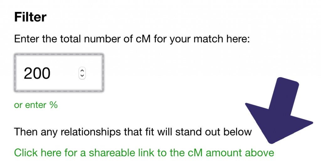 Shareable link in the updated shared cM project